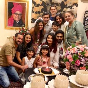 Aishwarya celebrates birthday with family