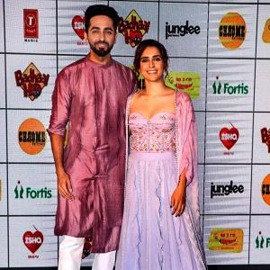 Ayushmann, Sanya at Neena Gupta's baby shower :))