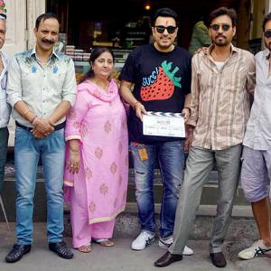 AWESOME! Irrfan begins shooting again