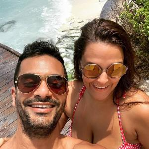 PIX: Neha, Angad holiday in Maldives