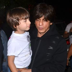 PIX: Shah Rukh watches Lion King with family