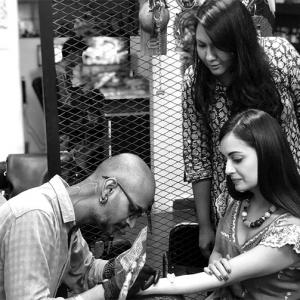 PIX: Dia Mirza gets her first tattoo!