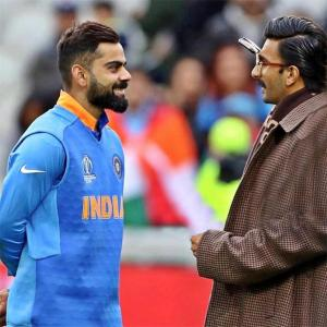 When Ranveer met cricket legends