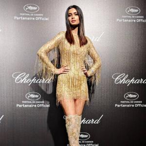 Cannes 2019: Diana shimmers in a sexy gold mini!