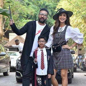 Shilpa's son turned 7... she made him Harry Potter!