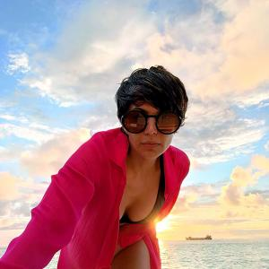 PIX: Mandira's bikini holiday in Maldives