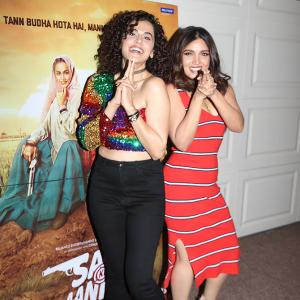 PIX: Taapsee-Bhumi throw a party!