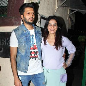 PIX: Riteish-Genelia celebrate son's birthday