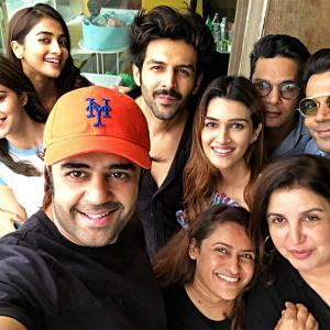 PIX: Malaika's Sunday lunch with Farah Khan