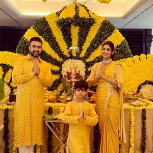 Bollywood stars welcome Ganpati home