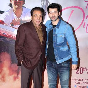WATCH: Dharmendra sets the stage for grandson Karan