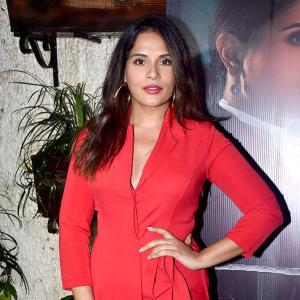 What film is Richa Chadha watching?