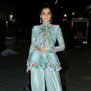 PIX: Rakul watches Thappad with Taapsee