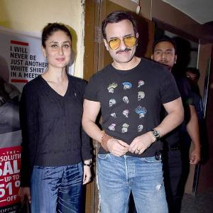 PIX: Saif-Kareena go on a movie date