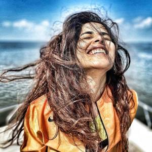 Why is Genelia laughing?