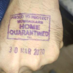 Amitabh tweets pic of hand with quarantine stamp
