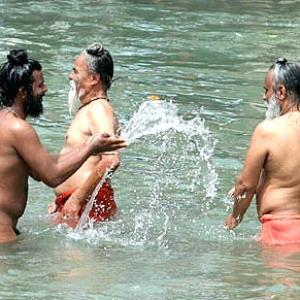 Sadhus have a blast at the Kumbh Mela