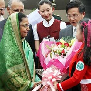 President Patil's Chinese soujourn begins