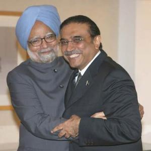 Zardari's India visit only to touch base with Dr Singh