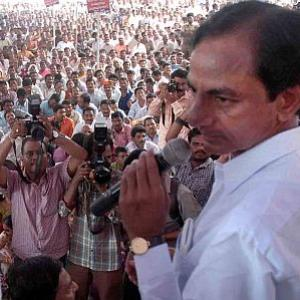 Telangana stir: Cases booked against KCR; rail roko postponed
