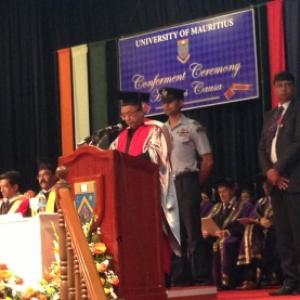 Mauritius honours Prez, it's Dr Mukherjee now