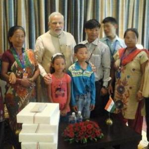 It's all smiles after PM Modi reunites Nepalese youth with kin