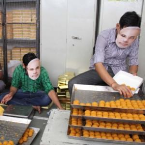 Expecting big win, Maha BJP prepares 40K ladoos, giant cake