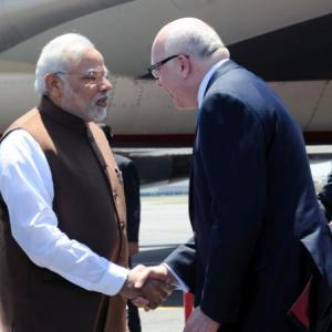 It's bright and sunny, tweets PM Modi as he arrives in Brisbane