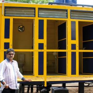 How a ship container solved the toilet problem in a TN village