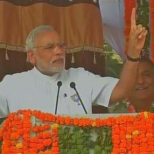 Vote for BJP if you want change, roars Modi in Haryana