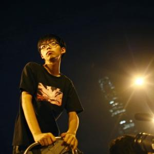 All of 17, he is the face of Hong Kong protests