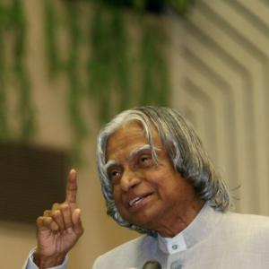 You could tell Dr Kalam was unhappy when he said...