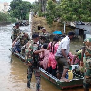 PHOTOS: Army, navy come to the rescue as rains pound Chennai