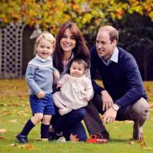 Christmas greetings from Prince William, Kate, George and Charlotte