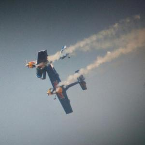 #AeroIndia: 'Flying Bulls' stunt goes awry mid-air