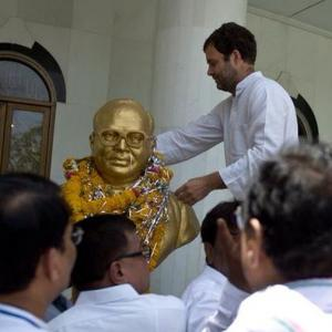 In Ambedkar's birth place, Rahul pays tribute to Dalit icon