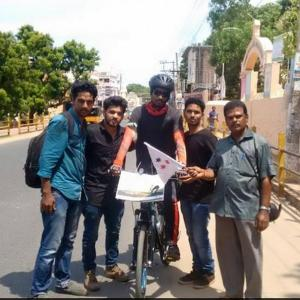Why this 20-yr-old set out on a 4,200 km journey on a cycle