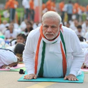 PHOTOS: On Yoga Day, PM shows how it's done