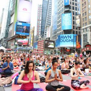 PHOTOS: When New York's Time Square turned into yoga square