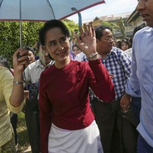 Myanmar votes in first polls in decades of military rule