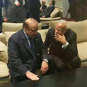 Climate change? Modi, Sharif talk briefly in Paris