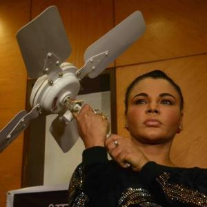 Rakhi Sawant's solution to stopping suicides: Remove ceiling fans, use AC!