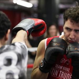 PHOTOS: Canadian PM goes for the knockout in New York