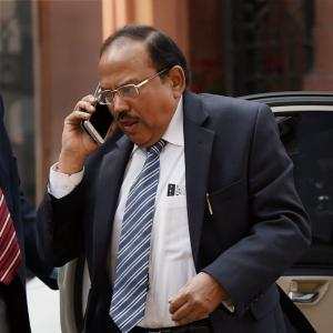 Amit Shah in huddle with NSA Doval over Kashmir crisis