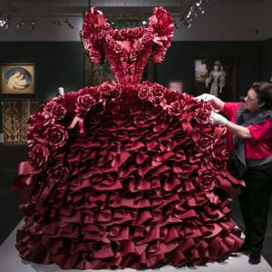 PHOTOS: Guess what this dress is made of!