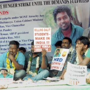Dalit student's suicide: Fasting students taken to hospital