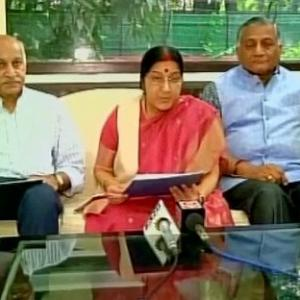 All of Kashmir belongs to India: Sushma's strong message to Pak PM