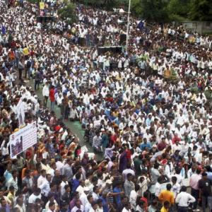 In massive rally, Dalits 'threaten' to show strength in 2017 polls