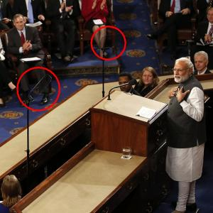 The teleprompters behind Modi magic on Capitol Hill