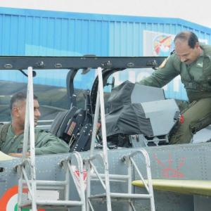 IAF chief Raha makes history, takes to the skies in a Tejas